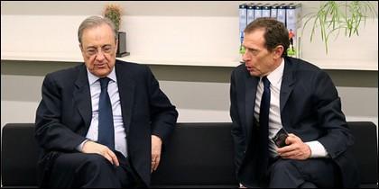 Florentino Pérez y Emilio Butragueño