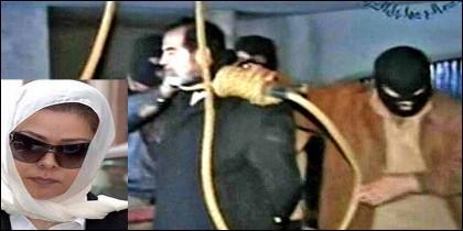 Raghad, la hija del ahorcado Sadam Husein.