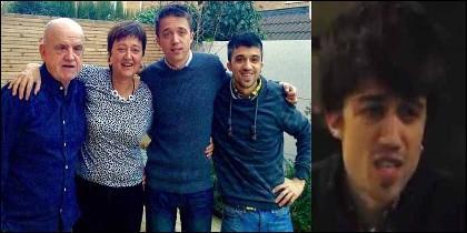 La familia Errejón, con Iñigo y Guillermo.