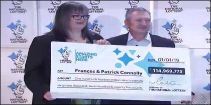 Frances y Patrick Connolly, ganadores de los Euromillones.