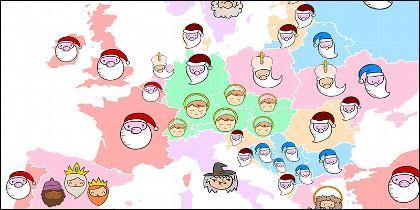 Mapa regalos
