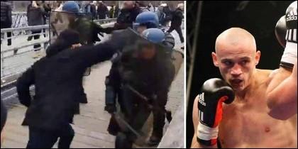 El boxeador Christophe Dettinger, exboxeador que arremetió con los antimotines en Francia durante la protesta de los chalecos amarillos.
