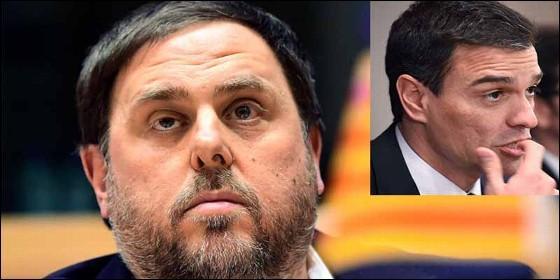 Oriol Junqueras (ERC) y Pedro Sánchez (PSOE).