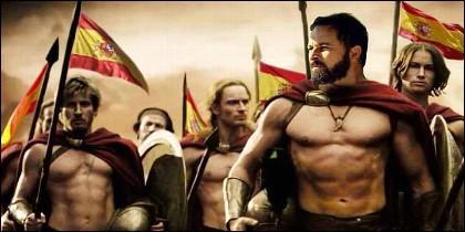 Un meme de VOX en el que Santiago Abascal aparece como guerrero.
