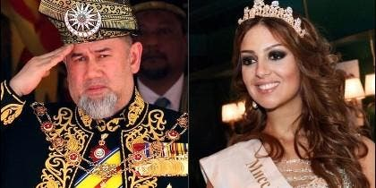 Muhammad V y Oksana Voevodina