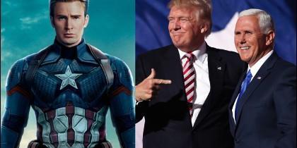 Chris Evans, Donald Trump y Mike Pence