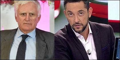 Paolo Vasile y Javier Ruiz.
