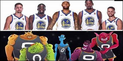 Los Warriors de Stephen Curry han sido bautizados como los Monstars de Space Jam, por el brutal talento del equipo que han conformado.