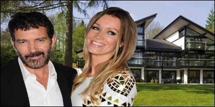 Antonio Banderas con su novia, la empresaria alemana Nicole Kimpel y su casa prefabricada.