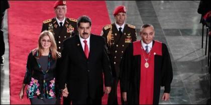 Nicolás Maduro en su toma de posesión