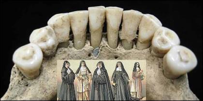Esa mancha azul, en los dientes de una monja, acaba de confirmar la gran aportación de las mujeres a los manuscritos medievales.