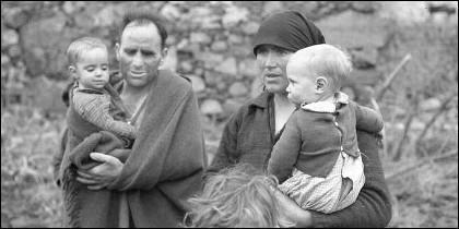 Supervivientes de la catástrofe de Ribadelago, en Zamora.