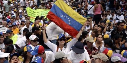 Manifestación de venezolanos