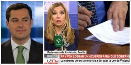 Juan Manuel Moreno Bonilla y el enfoque informativo en la televisión autonómica andaluza.
