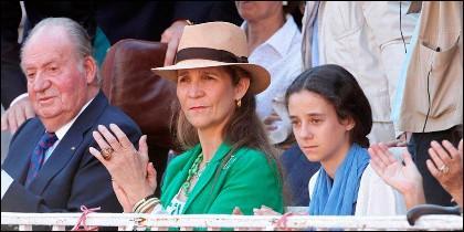 D. Juan Carlos, la infanta Elena y Victoria Federica