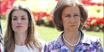 Doña Letizia y la Reina Sofía, en una imagen de archivo.