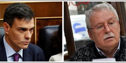Pedro Sánchez y Joaquín Leguina.