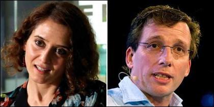 Isabel Díaz Ayuso y de José Luis Martínez-Almeida (PP).