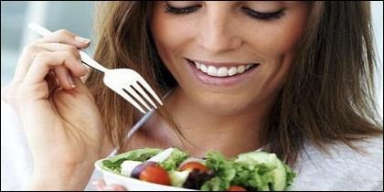 Ensaladas, dieta y comida sana.