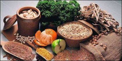 Alimentos ricos en fibra, dieta y salud.