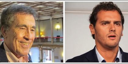 Fernando Sánchez Dragó y Albert Rivera.