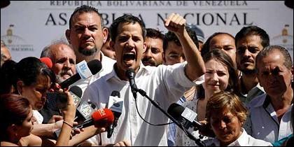 Juan Guaidó, presidente del parlamento venezolano.