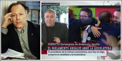Javier Marías y Antonio García Ferreras hablando de los líderes de Vox