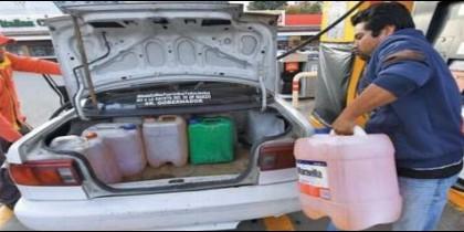 Corte del suministro del combustible en México