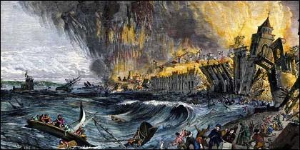 El maremoto que devastó Lisboa en 1755 y golpeó en Cádiz.