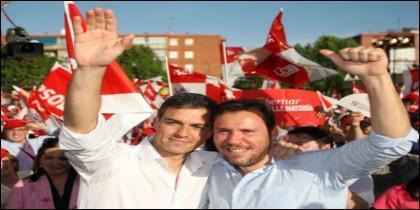 Óscar Puente con Pedro Sánchez