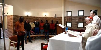 Bautizo en la capilla de la Ciudad de la Esperanza