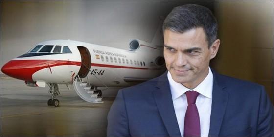 Pedro Sánchez (PSOE) y el avión Falcon.