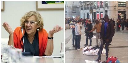 Manuela Carmena y los manteros