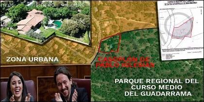 El casoplón de Pablo Iglesias y Montero está en pleno parque natural protegido.