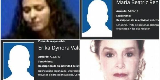 Las mujeres más peligrosas y buscadas de México