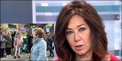 Ana Rosa Quintana carga contra las feministas que insultan a Celia Villalobos ante el Parlamento de Andalucía.