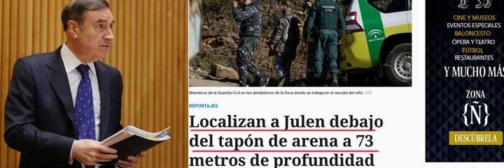 Pedrojota Ramírez; y la captura del reportaje de El Español.