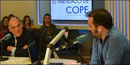 Javier Tebas y Juanma Castaño.