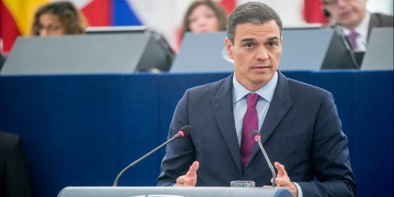 Pedro Sánchez en la Eurocámara