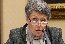 Rosa María Mateo en la Comisión Mixta del Congreso