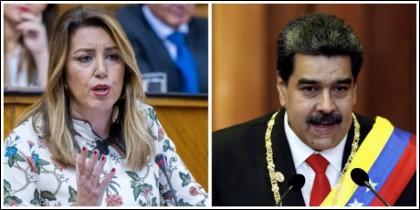 Susana Díaz y Nicolás Maduro.
