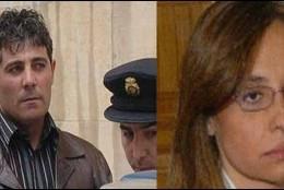 José Javier Salvador Calvo, el asesino, y Rebeca Santamalia Cáncer, la abogada asesinada.