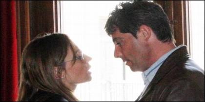 La abogada Rebeca Santamalia y José Javier Salvador, su cliente, amante y asesino.