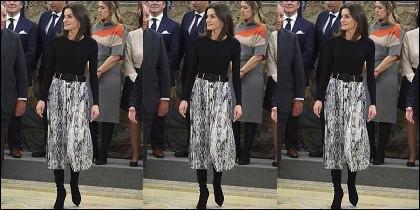 La Reina Letizia y su falda de 13 euros.