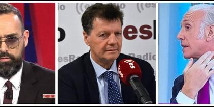 Risto Mejide, Alfonso Rojo y Eduardo Inda.