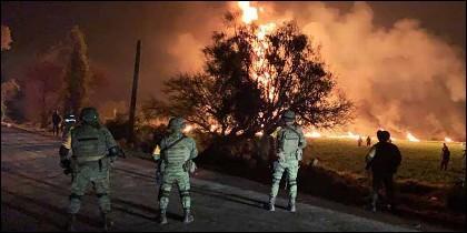 La explosión en Tlahuelilpan, Hidalgo, durante un robo de combustible.
