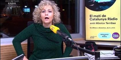 Mònica Terribas, en su radio.