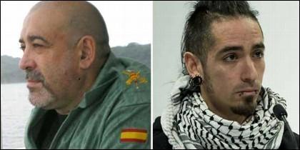 Víctor Láinez, la víctima, y Rodrigo Lanza, su asesino.
