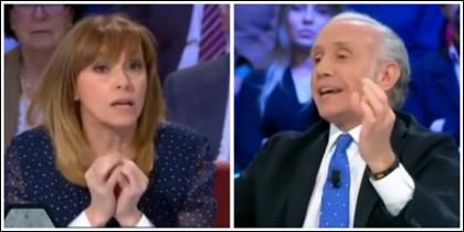 Angélica Rubio y Eduardo Inda.