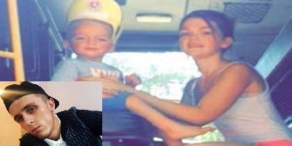 El homicidad Stephen Waterson y el pequeño Alfie con su madre Adrian Hoare.